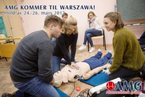 24.-26. mars blir det kurshelg i Warszawa